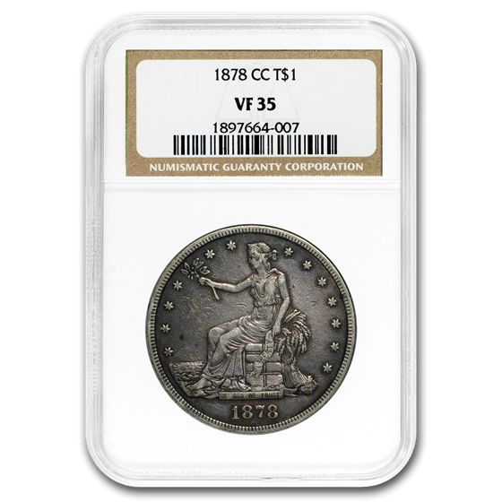 1878-CC Trade Dollar VF-35 NGC