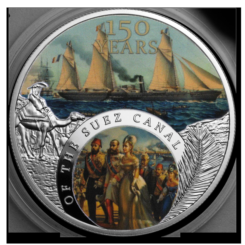 2019 Niue 1 Oz Silver 150th Anniversary Of The Suez Canal Proof Sku 191875 Ebay