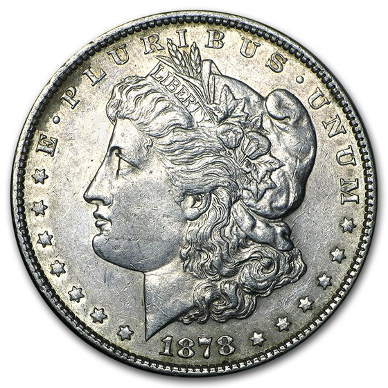 1878 Morgan Dollar 7 Tailfeathers Rev of 79 XF