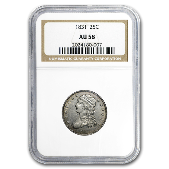 1831 Capped Bust Quarter AU-58 NGC (Small Letters)