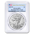 2019-W Burnished Silver American Eagle SP-70 PCGS (First Day)
