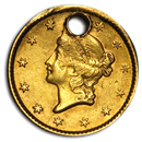 $1 Liberty Head Gold Type 1 (Damaged)