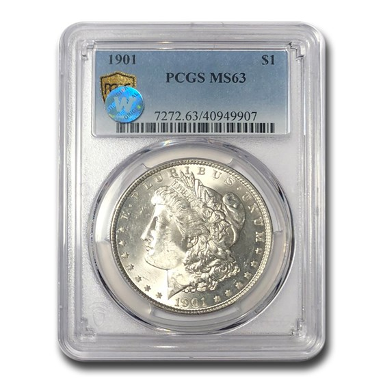 1901 Morgan Dollar MS-63 PCGS