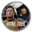2019 Tuvalu 1 oz Silver Star Trek The Original Series Kirk Proof