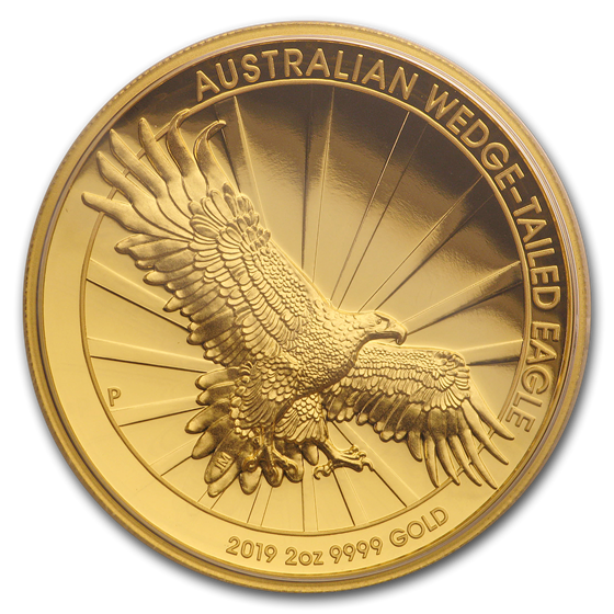 2019 Australia 2 oz Gold Proof Wedge Tailed Eagle (High Relief)