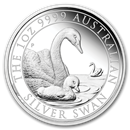 2019 Australia 1 oz Silver Swan Proof (w/Box & COA)