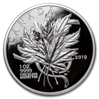 2019 Canada 1 oz Silver The Beloved Maple Leaf Proof