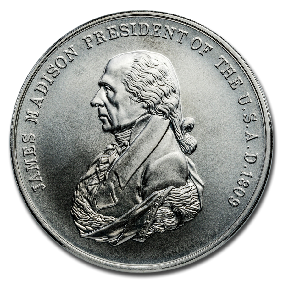 U.S. Mint Silver James Madison Presidential Medal