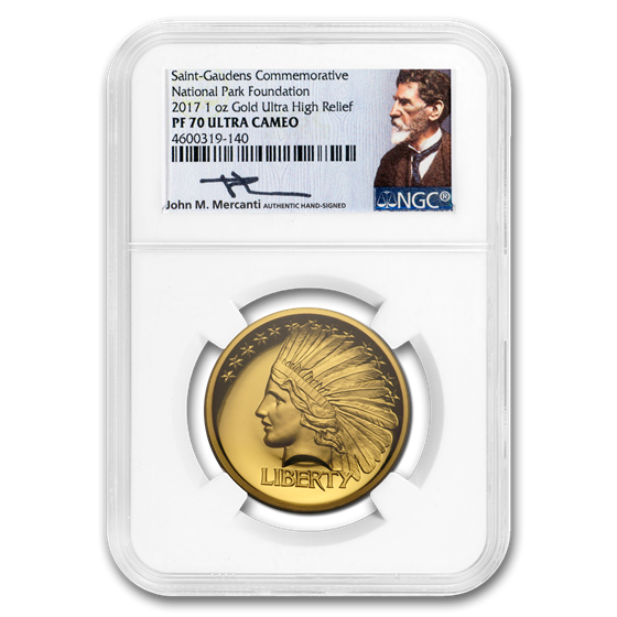 2017 1 oz Gold National Park Indian Head Commemorative PF-70 NGC