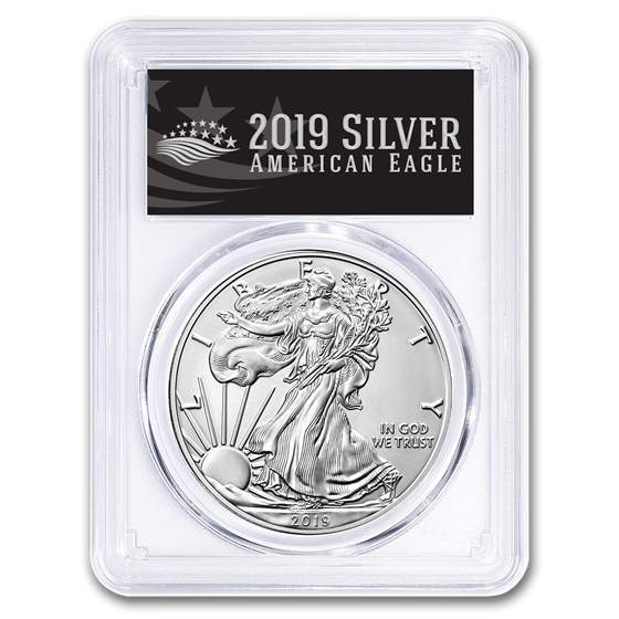 2019-W Burnished Silver Eagle SP-70 PCGS (First Day, Black Label)