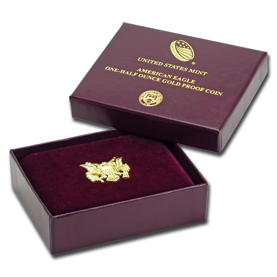 OGP Box & COA - 2019 1/2 oz Proof Gold American Eagle
