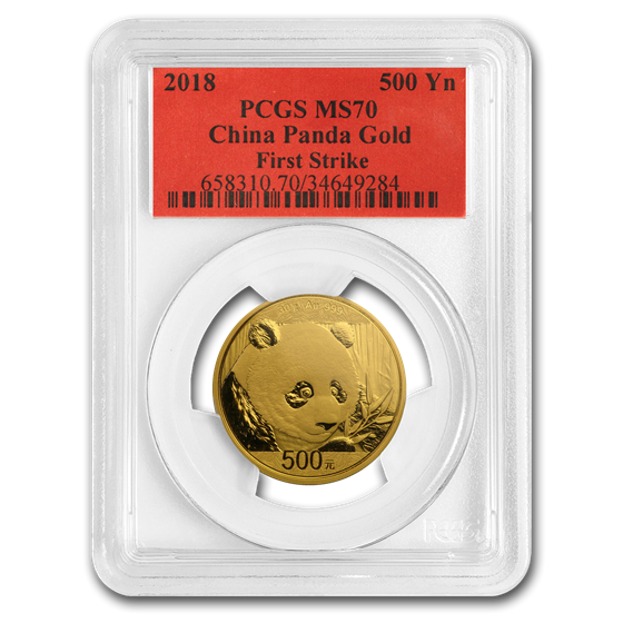 2018 China 30 Gram Gold Panda MS-70 PCGS (FS)
