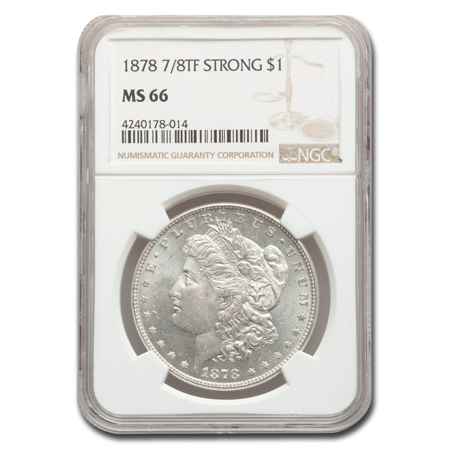 1878 Morgan Dollar 7/8 TF MS-66 NGC (Strong)