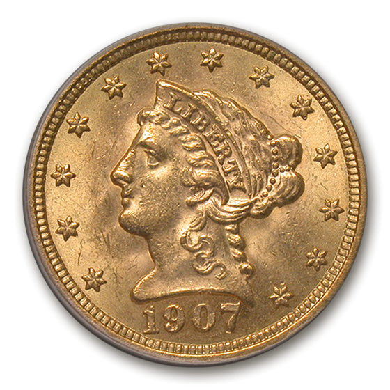 1907 $2.50 Liberty Gold Quarter Eagle MS-63 PCGS