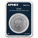 2020 Canada 1 oz Silver Maple Leaf (MintDirect® Single)