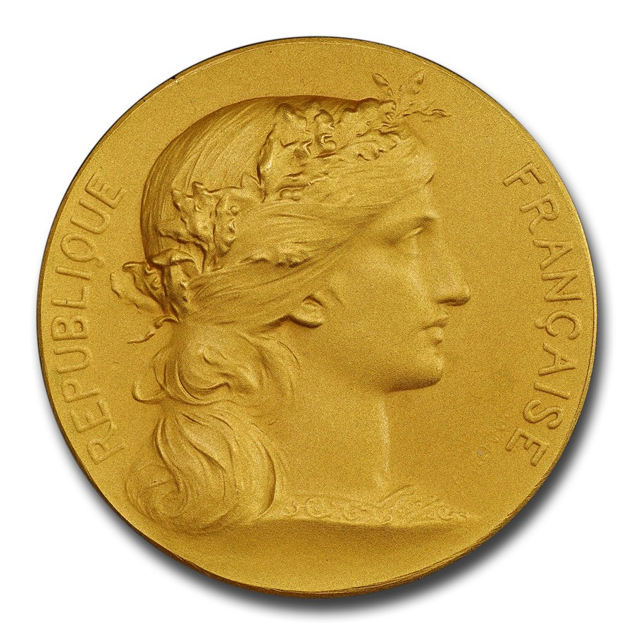 (1880 to Date) France Gold Medal SP-69 PCGS (Matte)