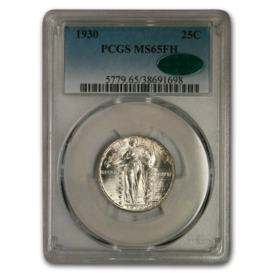 1930 Standing Liberty Quarter MS-65 PCGS CAC (Full Head)
