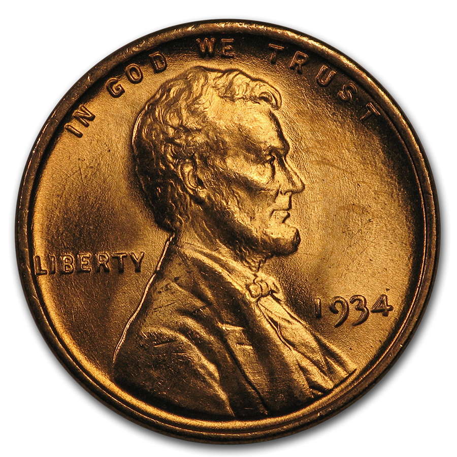 1934 Lincoln Cent 50-Coin Roll BU