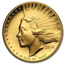 2019-W High Relief American Liberty Gold (w/Box and COA)