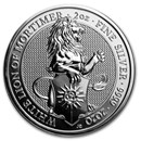 2020 Great Britain 2 oz Silver Queen's Beasts The White Lion