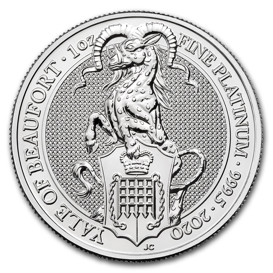 2020 Great Britain 1 oz Platinum Queen's Beasts The Yale