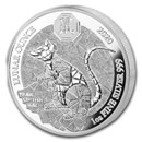 2020 Rwanda 1 oz Silver Lunar Year of the Rat Proof