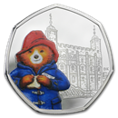 2019 Great Britain 50p Silver Proof Paddington Bear at the Tower