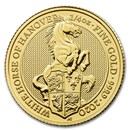 2020 Great Britain 1/4 oz Gold Queen's Beasts The White Horse