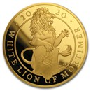 2020 GB 5 oz Gold Queen's Beasts White Lion Proof (Box & COA)