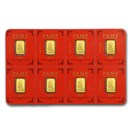 8x 1 gram Gold Bar PAMP Suisse Lunar Rat Multigram+8 (In Assay)