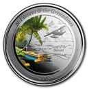 2019 St. Vincent & The Grenadines 1 oz Silver Seaplane (Colored)