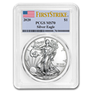 2020 Silver American Eagle MS-70 PCGS (FirstStrike®)