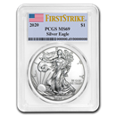 2020 Silver American Eagle MS-69 PCGS (FirstStrike®)