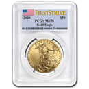 2020 1 oz Gold American Eagle MS-70 PCGS (FirstStrike®)