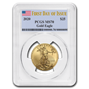 2020 1/2 oz Gold American Eagle MS-70 PCGS (First Day of Issue)