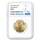 2020 1/2 oz Gold American Eagle MS-69 NGC (Early Releases)