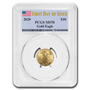 2020 1/4 oz Gold American Eagle MS-70 PCGS (First Day of Issue)
