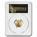 2020 1/4 oz Gold Eagle MS-70 PCGS (First Day, Black Label)