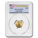 2020 1/4 oz Gold American Eagle MS-70 PCGS (FirstStrike®)