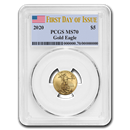 2020 1/10 oz Gold American Eagle MS-70 PCGS (First Day of Issue)