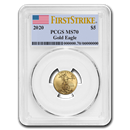 2020 1/10 oz Gold American Eagle MS-70 PCGS (FirstStrike®)