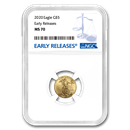 2020 1/10 oz Gold American Eagle MS-70 NGC (Early Releases)