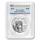 2020 1 oz Platinum American Eagle MS-70 PCGS (First Day of Issue)