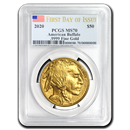2020 1 oz Gold Buffalo MS-70 PCGS (First Day of Issue)