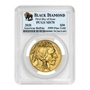 2020 1 oz Gold Buffalo MS-70 PCGS (FD, Black Diamond)