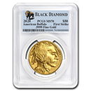 2020 1 oz Gold Buffalo MS-70 PCGS (FS, Black Diamond)
