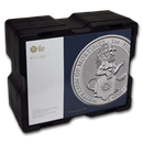 200-Coin 2 oz Silver White Lion Monster Box (Empty, Black)