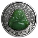 2019 Australia 1 oz Silver Laughing Budda (Antiqued)
