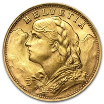 Swiss Gold 20 Franc Coin For
