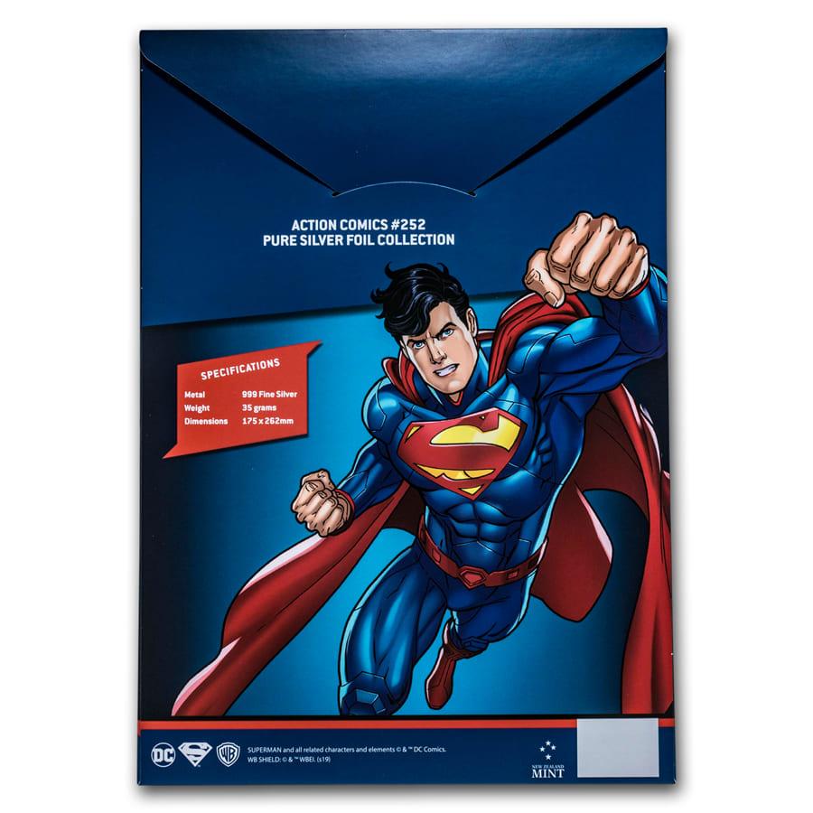 Silver Foil 35 grams Pure Silver Action Comics #252 DC Comics 2019 Niue